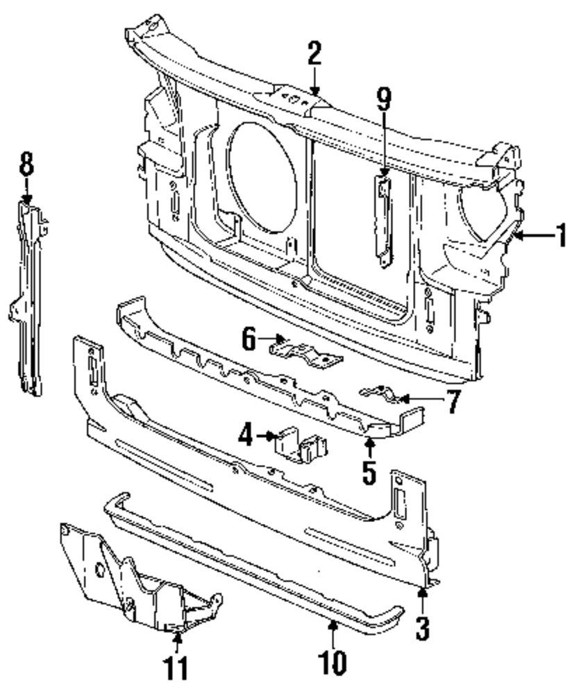 Lower tie bar