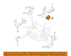 SUZUKI OEM 0408 Forenza Engine Motor TransmissionRear