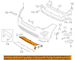 LAND ROVER OEM Discovery Sport Front Lower BumperSpoiler Chin Lip LR061243 | eBay