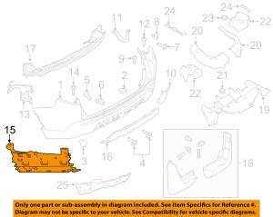 LAND ROVER OEM 1517 Discovery Sport Rear BumperLower Cover LR077792 | eBay