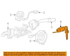 TOYOTA OEM 0508 CorollaIgnition Lock Cylinder 6905702140