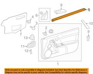 Scion TOYOTA OEM tC DoorWindow Sweep Belt Molding