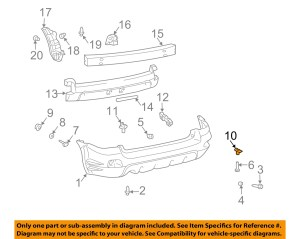 Pontiac GM OEM 0308 Vibe Rear BumperBumper Cover Bracket 88970443 | eBay