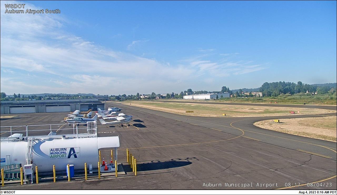 Auburn Municipal Airport web cam image enlargement - south view
