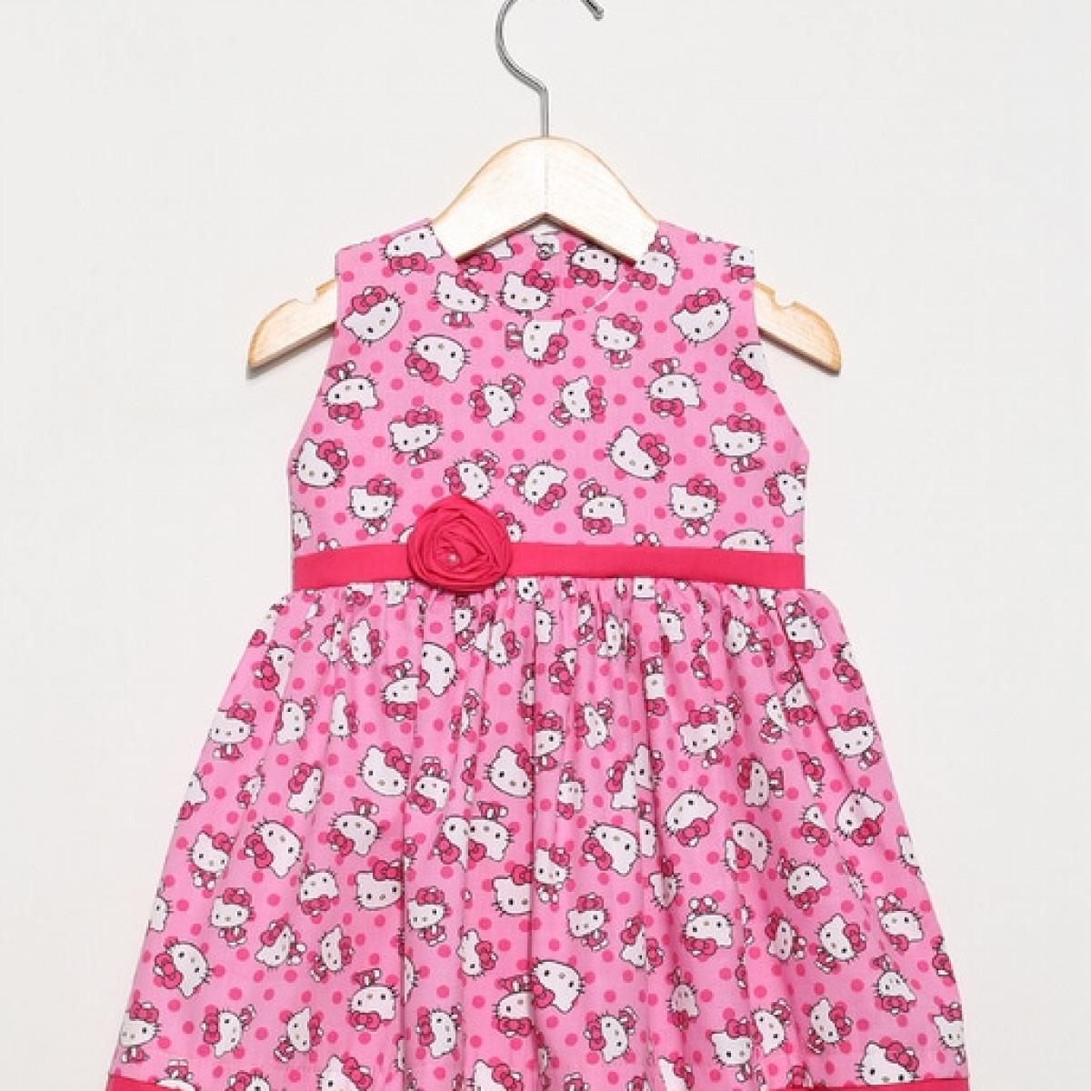 Vestido Infantil Bebe Hello Kitty