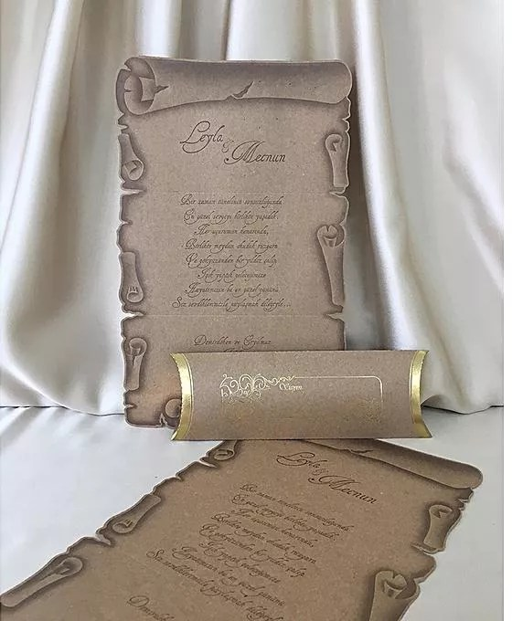 Profound Wedding Cards Scroll Invitation Box Of 100pcs