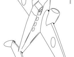 Un Avion Para Dibujar Facil On Log Wall