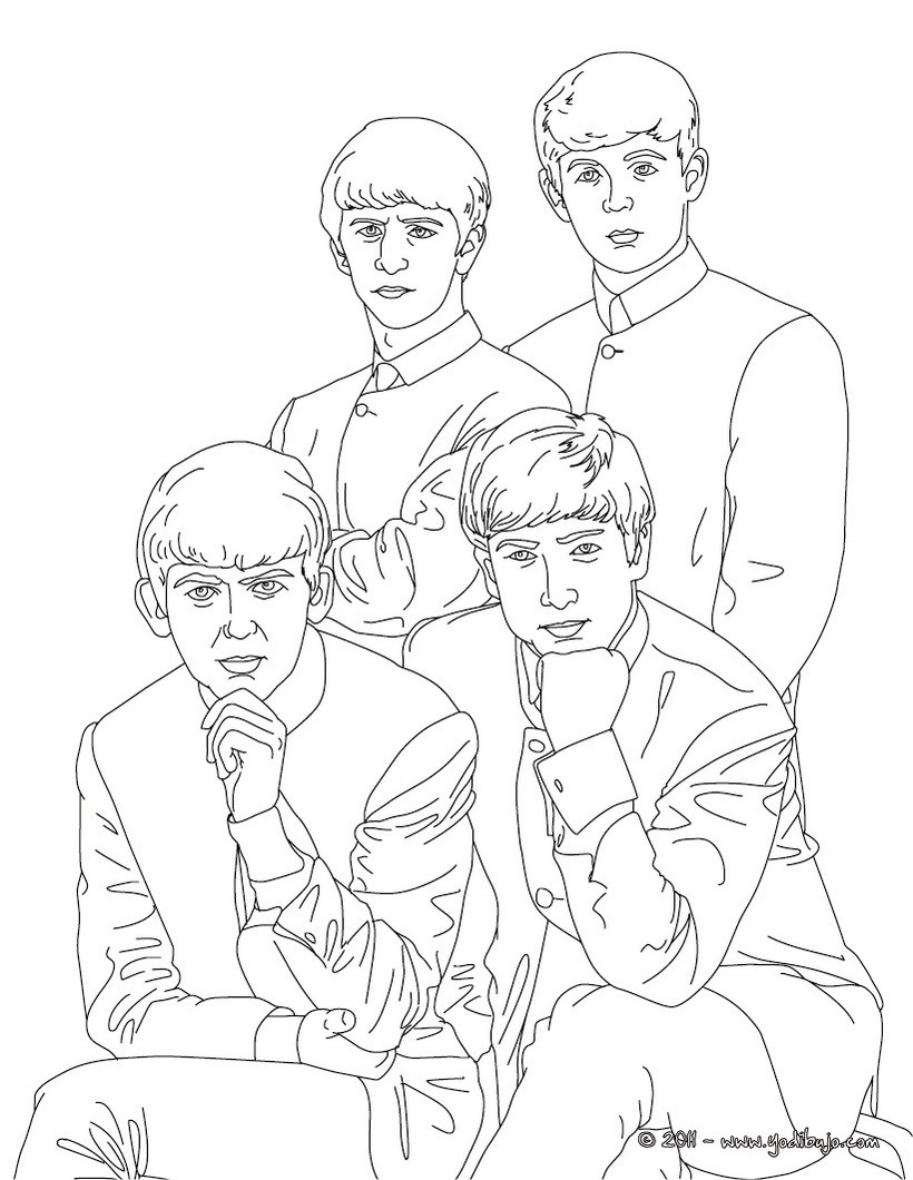 dibujos para colorear los beatles  es.hellokids