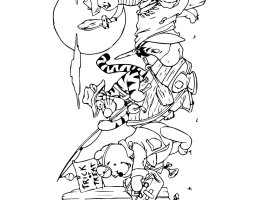 Imagenes De Winnie Pooh Bebe Para Dibujar On Log Wall