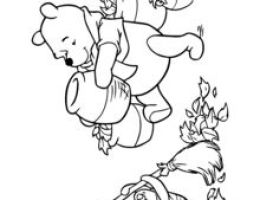 Para Dibujar Winnie Pooh On Log Wall