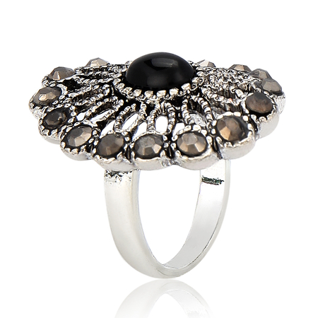 Filigree Stone Ring - US$3.95