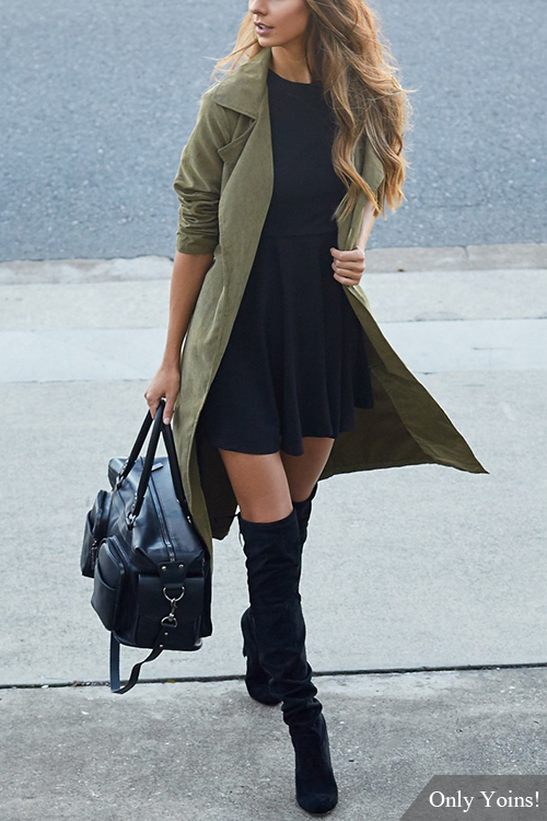 GET THE LOOK: Trench Coat and High Boots - By NadineAmanduh
