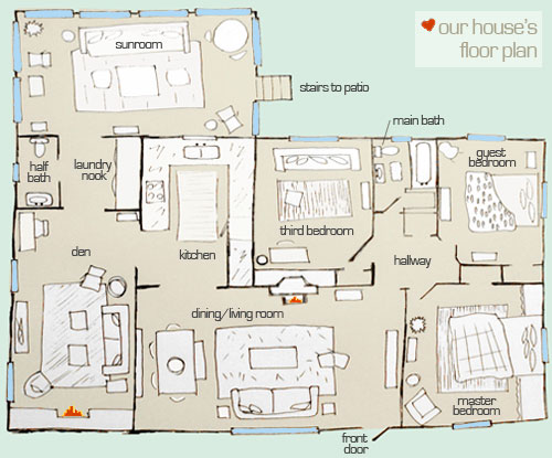 Awesome Of Course The House Didnu0027t Start Out As A Three Bedroom (remember We Moved  Our Dining Area Into The Living Room And Converted The Formal Dining Room  Into A ...