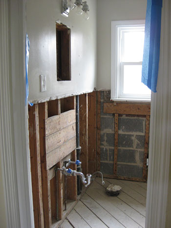 How To Demo A Bathroom. Even If It Includes An Area Of Rot Next To The Tub More On How We Reme D That In A Later Post