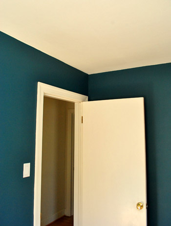 Bold Teal Walls & A Handy How-We-Cut-In Video | Young House Love