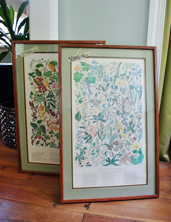 Updating Old Yard Sale Prints With Spray Painted Frames (And Mats ...