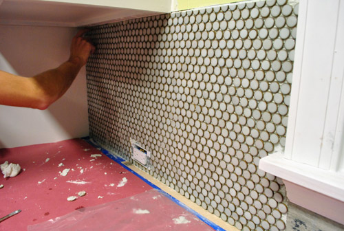 cutting penny tile can be tricky what