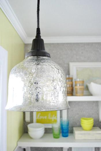 spray paint a pendant light s cord