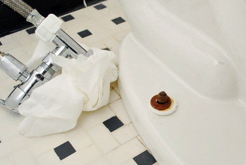 Fixing A Toilet That Rocks Replacing A Wax Ring Amp Adding Dual Flush Young House Love