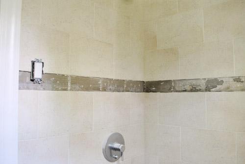 replacing old shower border tiles