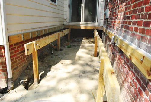 How to build a deck not attached to the house how to how to build a deck adding the joists young house love ccuart Images