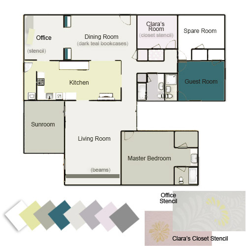 Lovely ... To Play Around In Photoshop And Make An Updated Floor Plan For This  Houseu0027s Paint Picks So Far. Note: Click Here For A Full List Of These Paint  Colors.