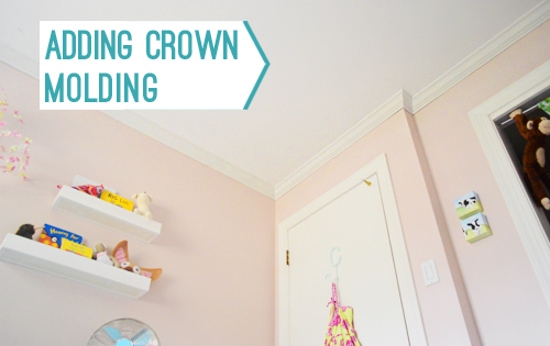 Pink Bedroom With Crown Molding And Title Adding Crown Molding
