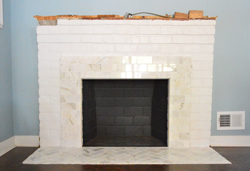 Our Fireplace Makeover Building A New Mantel Young