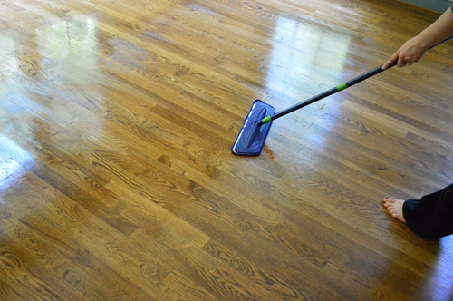 How to clean gloss up and seal dull old hardwood floors young sadly by the time i worked my way out of the room i was only mildly impressed parts of it had dried and looked just like they did before dull grayed solutioingenieria Gallery