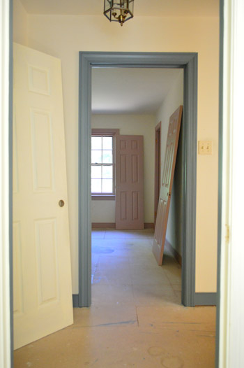 We reasoned that while all of the carpet was up and before the new hardwoods went down we should take advantage of the can-get-painted subfloor and go ... & Priming And Painting Our Trim And Doors With A Paint Sprayer   Young ...
