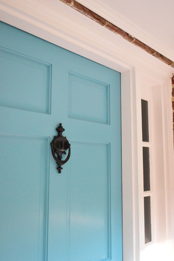 There\u0027s no hard and fast rule about carrying the color that\u0027s on the front of the door back around to the inside of it (in our last two houses we chose ... & Painting The Back Of Your Front Door A Bold Color | Young House Love