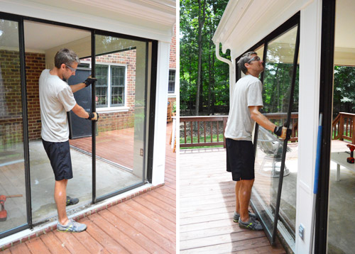 Removing all of the doors (12 glass doors and 4 screens) probably took me about two hours (excluding photo taking time). And as each one came out ... & Open u0027Er Up! (Converting A Sunroom Into A Veranda) | Young House Love