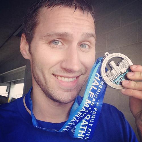 richmond half marathon finisher medal 2013