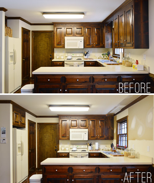 11 Lovely Restoring Kitchen Cabinets: Removing Some Kitchen Cabinets & Rehanging One