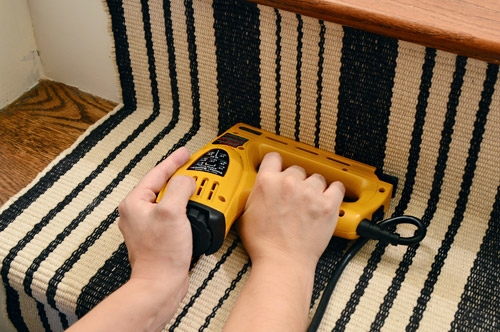 How To Install A Stair Runner Yourself Young House Love   Stair Rug Runners Cheap   White   Hardwood   Brown   Interior   Woven