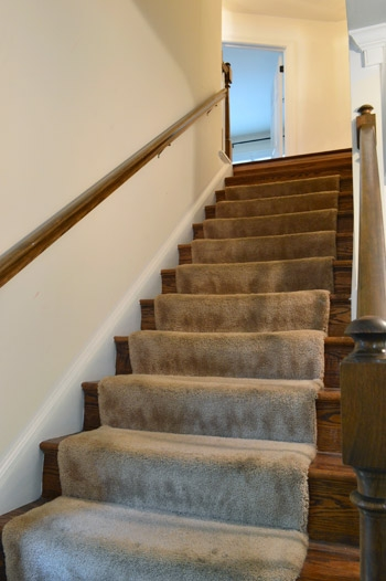 Removing Old Stair Carpet And 600 Staples Young House Love   Felt Back Carpet On Stairs   Stair Treads   Loop Feltback   Rolls Flecked   Purple   Flooring