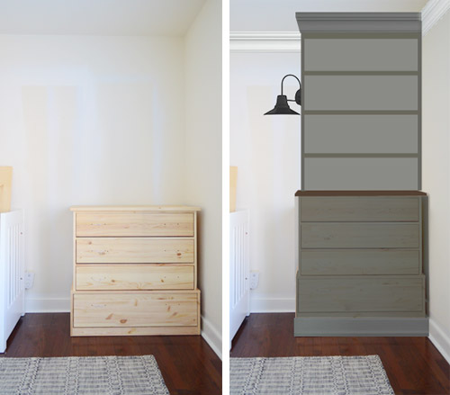 post and country with guest dresser bookshelf transformation chic