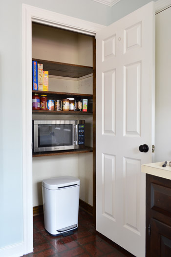 adding extra shelves and a microwave to