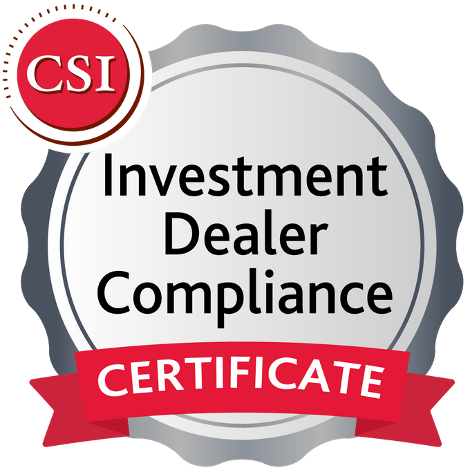 Certificate In Investment Dealer Compliance Acclaim