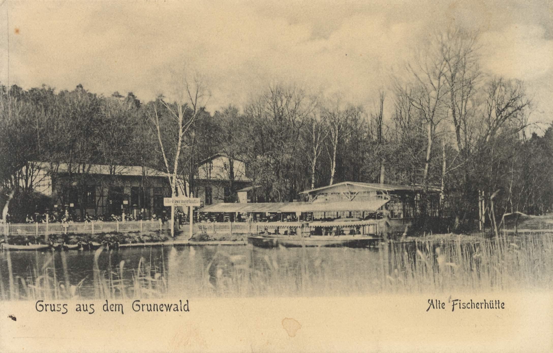 Alte Fischerhütte um 1905 (Quelle: zeno.org)