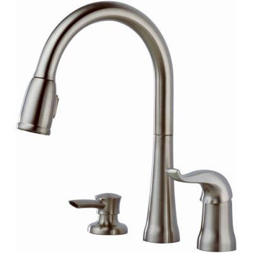 details about delta faucet kate single handle kitchen sink faucet with pull down sprayer