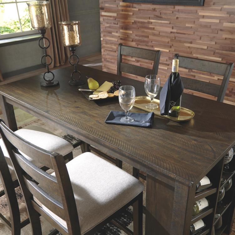 rokane dining table with wine rack