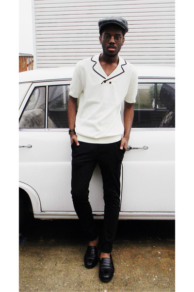 Zara top - Allen Edmonds shoes - Gap hat - Zara pants