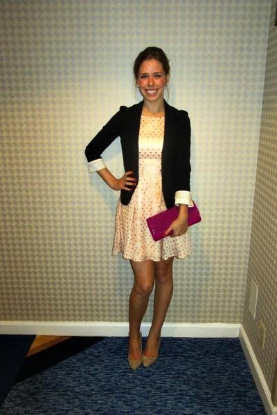 Black Blazer Blazers Light Pink Dresses Magenta Clutch
