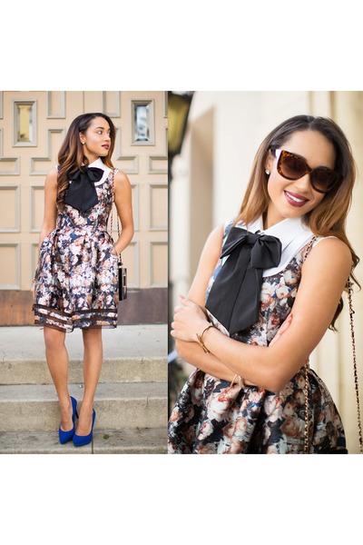 Morning Lavender bag - navy Charlotte Russe shoes - floral Sachin & Babi dress