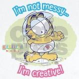 I'm not messay.. I'm creative cute baby garfield tshirt design