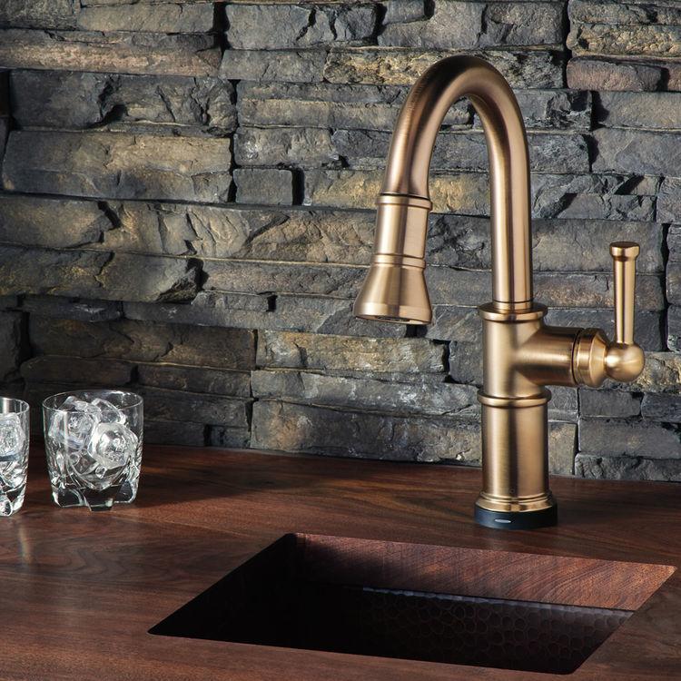 brizo 64025lf gl artesso smarttouch single handle pulldown kitchen faucet luxe gold