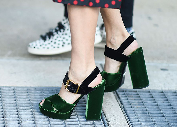shoes trends velveet