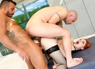 Busty Redhead Lunas Big Cock DP   Rocco Siffredi & Mike Angelo & Vinny Star & Canela Skin & Megan T & Luna Melba