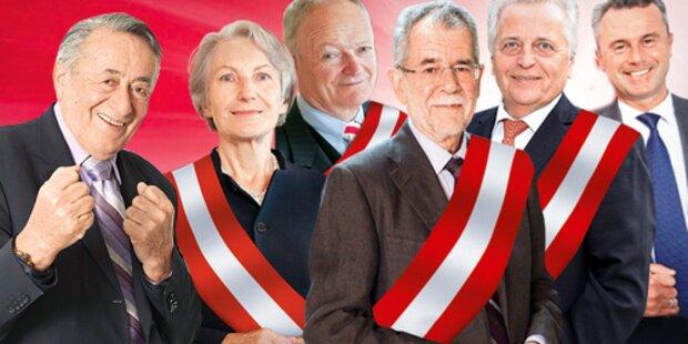 Hofburg-Wahl: Die letzte Präsidenten-Umfrage